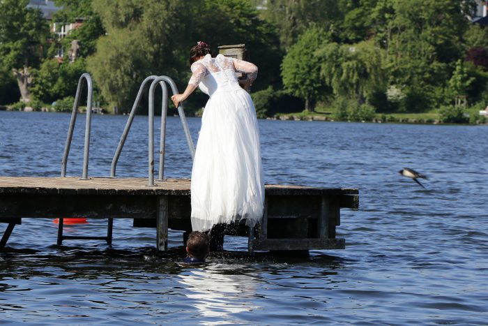 After Wedding Shooting im Wasser
