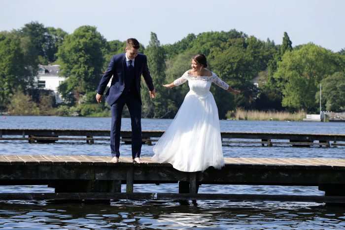 After Wedding Shooting im Wasser