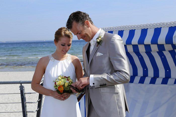 Hochzeitsfotos am Meer